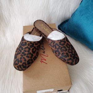 NEW Matisse Zip-It Dark Brown Leopard Mules